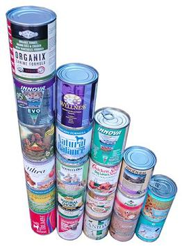 Photo of cans of dog food